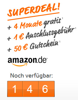 simyo Allnet Flat 4 Monate gratis plus 50€ Amazon Gutschein