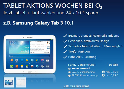 o2 Tablet Aktionswoche mit 240€ Rabatt